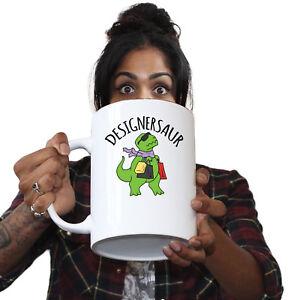 Funny Mugs Designersaur Dinosaur Fashion Comedy Sarcasm Christmas Xmas MUG