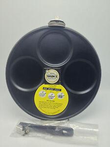 Vintage-Teflon-2-II-Pancake-Griddle-Silver-Dollar-Mille-Lacs-Co-Hong-Kong