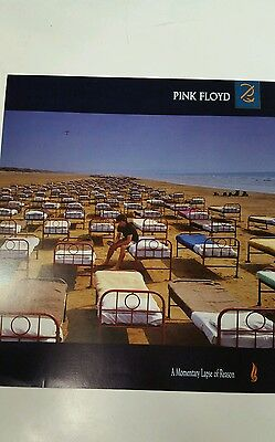 """PINK FLOYD """" A Momentary Lapse of Reason """"   2-sided PROMO  FLAT / Poster  12x12"""