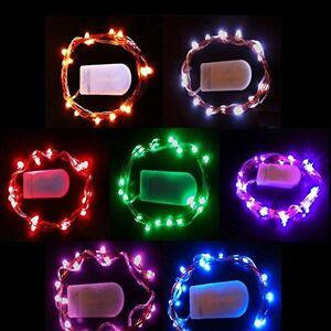2m 20 led draht micro batterie lichterkette warmwei biegsam mini mikro partydek ebay. Black Bedroom Furniture Sets. Home Design Ideas