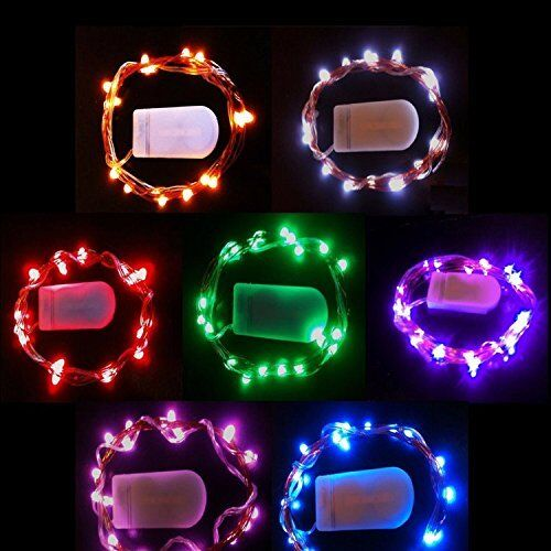 Warm White Colored 20 LED Copper String Light With Mini CR2032 Battery White