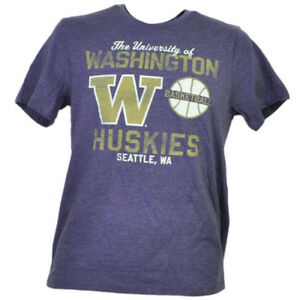NCAA-Washington-Huskies-Basketball-Purple-Men-Tshirt-Tee-Short-Sleeve-Seattle-WA