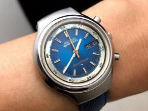 Seiko-5-Sports-7015-8000-Vintage-Speedtimer-Chronograph-SS-Automatic-Mens-Watch