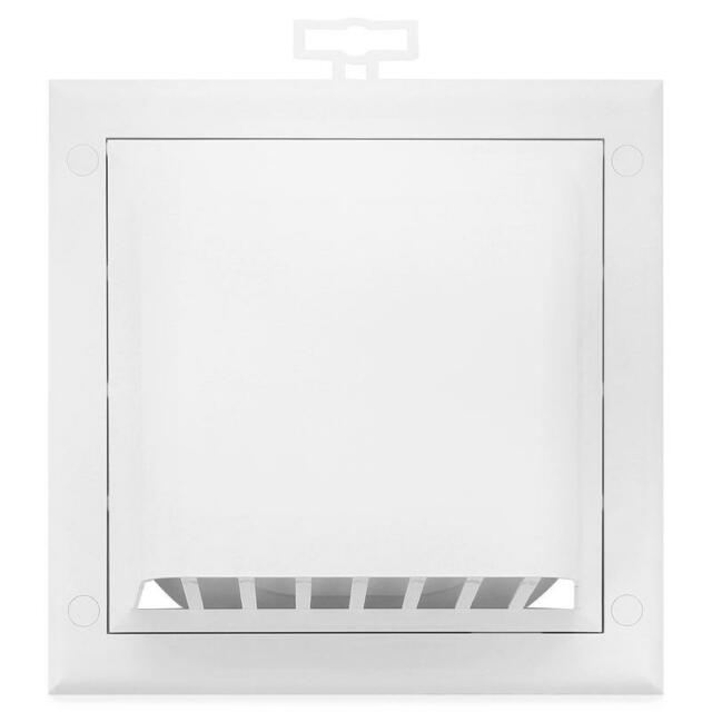 "White Gravity Flap 125mm / 5"" External Ducting Ventilation Cover Air Vent Grille"