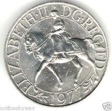 Queen Elizabeth II Silver Jubilee Coin Man England Great Britian U Medal Horse C