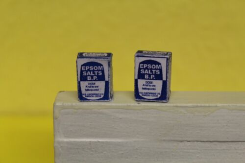 DOLLS HOUSE MINIATURE 2 BOXES Of Epsom Salts