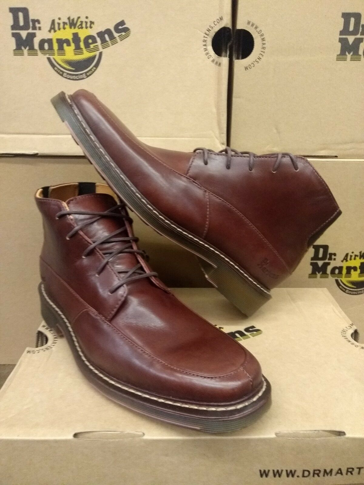 DR MARTENS IC33 MENS LACE UP CLAY BROWN SIZE 6