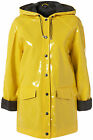 Topshop New Yellow Raincoat Mac Wet Look Gloss Shiny Vinyl PVC Size 4 6