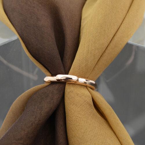 Lady Filles élégante écharpe Anneau Soie écharpe Clip Boucle Support Broche Bijoux