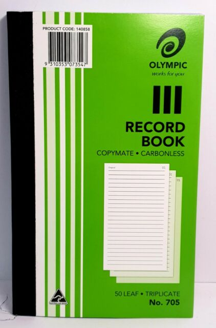 Olympic 705 Record Book Carbonless Triplicate - AO140858