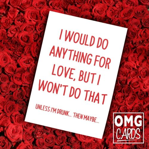 Funny Rude Valentine/'s Day Card LOVE HUMOUR COMEDY VALENTINE BOYFRIEND OMG CARDS