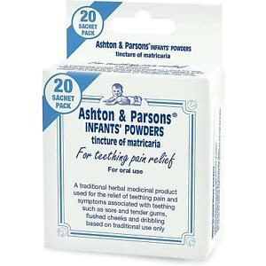 Ashton-amp-Parsons-bebes-para-la-denticion-en-polvo-bebe-alivio-del-dolor-natural-20-Sobres