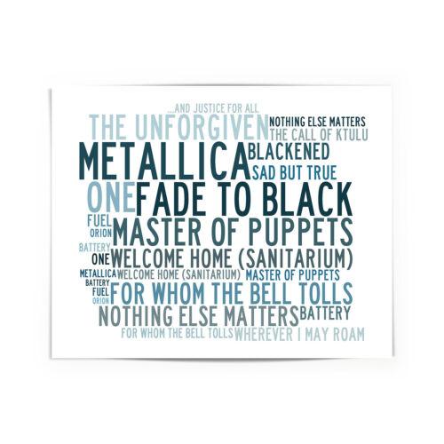 Greatest Hits Metallica Poster Framed Original Art Album Print Lyrics Gift