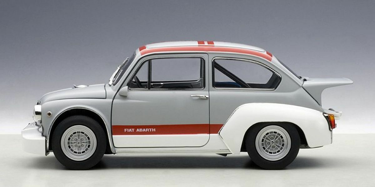 Autoart 1 18  72641 Fiat Abarth 1000 Tcr, Matte Grey Red