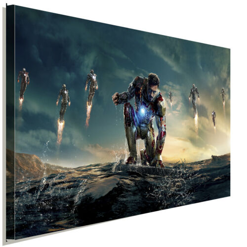 IronMan Marvel Leinwandbild AK ART Kunstdruck Mehrfarbig Wandbild Wanddeko XXL