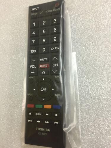 genuine  New Toshiba SMART Remote CT-8037  40L3400 58L5400UC 65L5400 65L5400UC