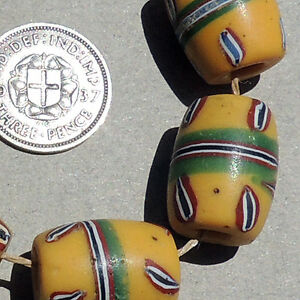 6-old-antique-venetian-barrel-shaped-fancy-beads-african-trade-1500