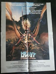 1981 Heavy Metal Movie Poster Original Taarna Achilleos Art Original 24 5 X 18 Ebay
