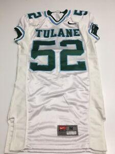 123938cf3 Game Worn Used Nike Tulane Green Wave Football Jersey  52 Size M