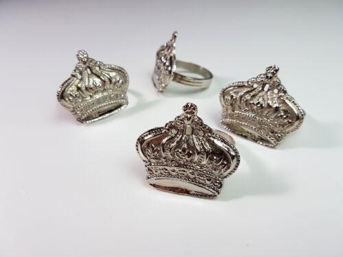 Serviettenringe Serviettenhalter Bankett Deko Tischdeko Hochzeit Ring Silber Set