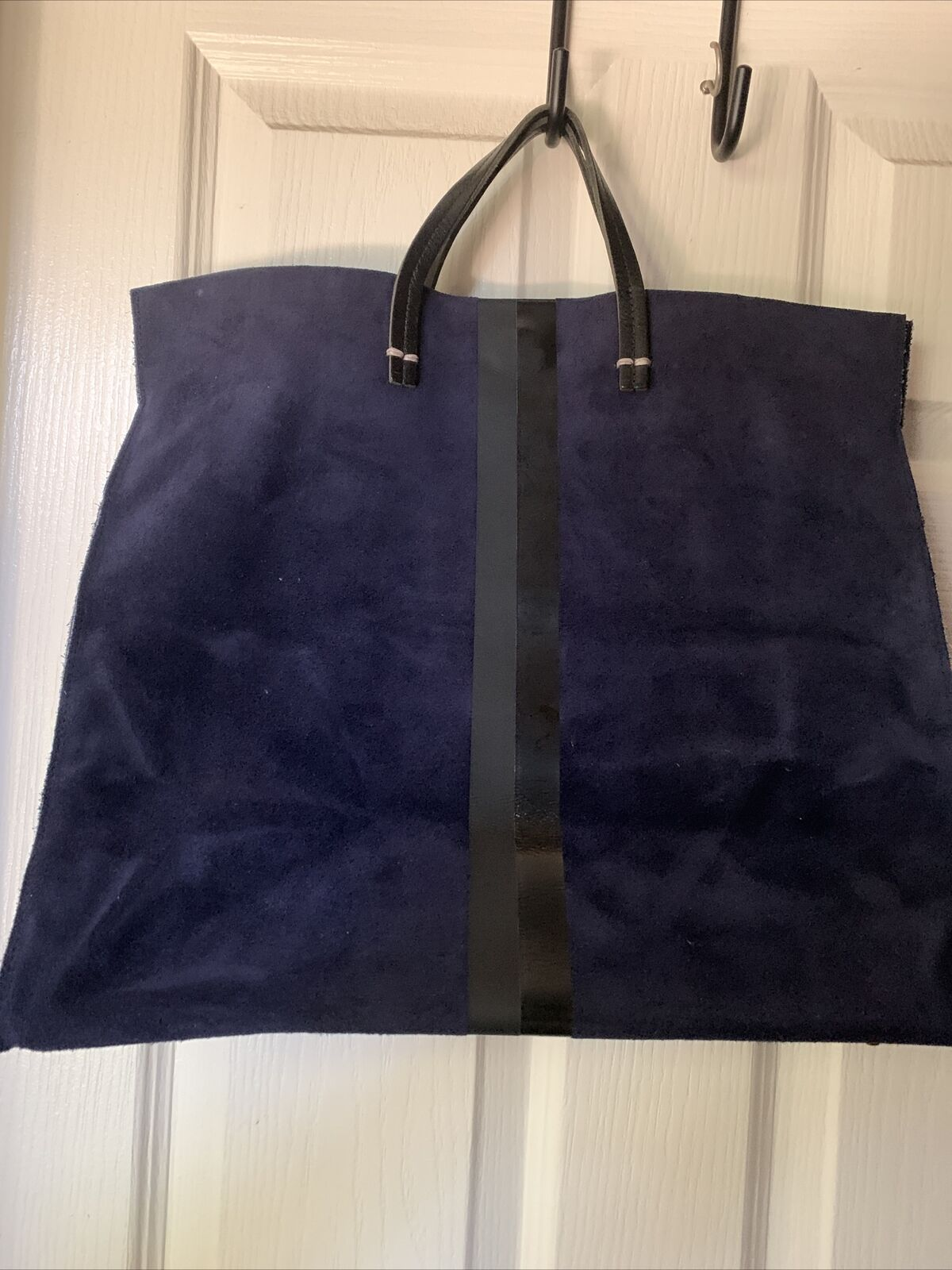 Claire V Simple Blue Suede Tote - image 5