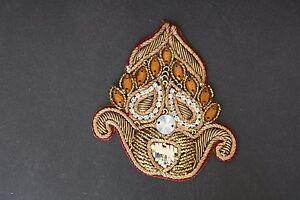 Jasdee vintage applique patch hand work rahinstone & gotta work