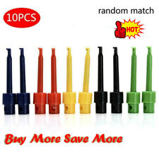 10x Useful Multimeter Lead Wire Test Probe Hook Clip Set Connector