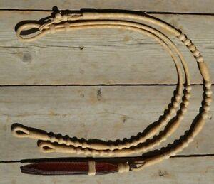 Jose-Ortiz-12-plait-Braided-All-Natural-Rawhide-Romel-Reins-Oklahoma-Style-42-034