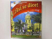 Asi Se Dice Glencoe Spanish 2 Teacher's Edition 2012 Glencoe 0076604284