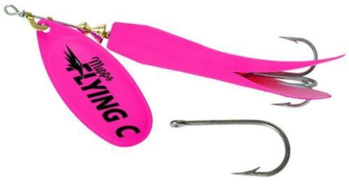 Mepps Flying C Spinner 7//8 Oz Salmon Steelhead Fishing Lure FC78TP-HP-HP Pink//Pi