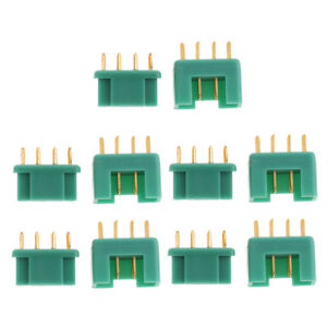 5-Pairs-6-Pin-M6-Multiplex-MPX-Connectors-Gold-Plated-Terminal-40AMP-Green