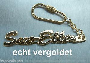 Luxus-accessoires Edler SchlÜsselanhÄnger Sue-ellen Vergoldet Gold Name Keychain Geschenk Büro & Schreibwaren