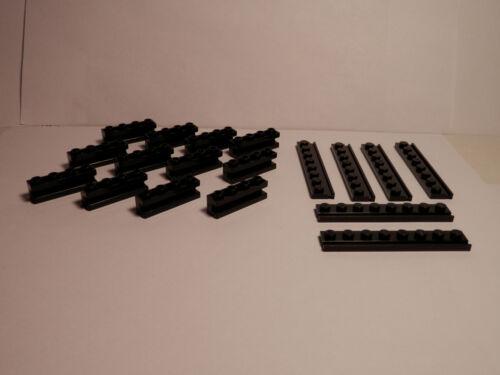 18 piece set of Door Rail Plates and Groove Bricks BLACK LEGOS Star Wars
