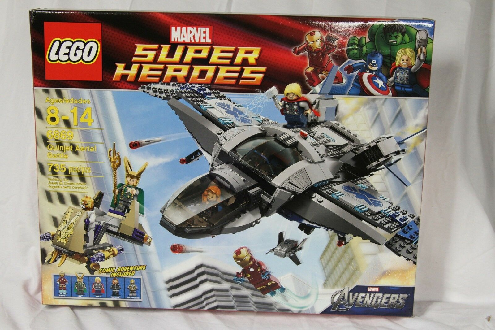 Lego Super Heroes 6869 The Avengers Quinjet Aerial Battle Incl Minifigures NEW