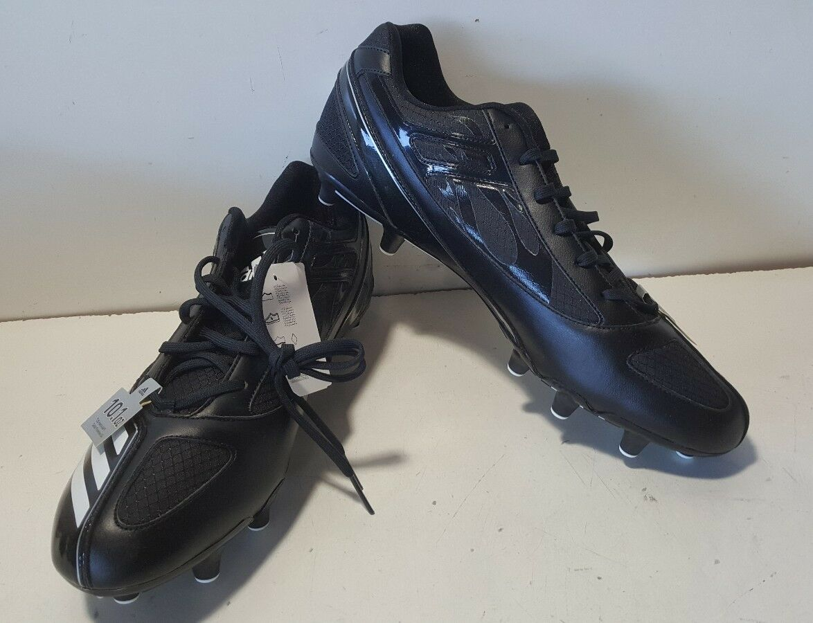 NOUVEAU Chaussons de foot Adidas Scorch Thrill Superfly Low noirs / blancs G06789