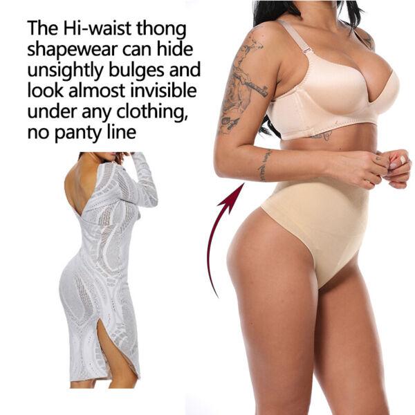 Frauen Seamless Mieder Shapewear String Tanga Bauch Weg Unterwäsche Slip Höschen