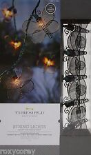 Threshold 10 Metal Butterfly String Lights Indoor/Outdoor Green Wire NIB