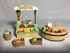 Calico critters/sylvanian families Farm Shop/juice Stand With Fruit & Vegetables