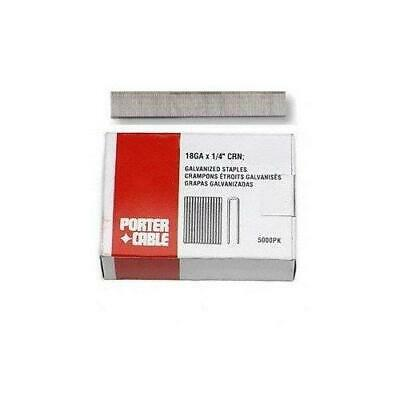 Staple PORTER-CABLE 1//2-Inch 1//4-Inch 5000-Pack 18 Gauge Narrow Crown