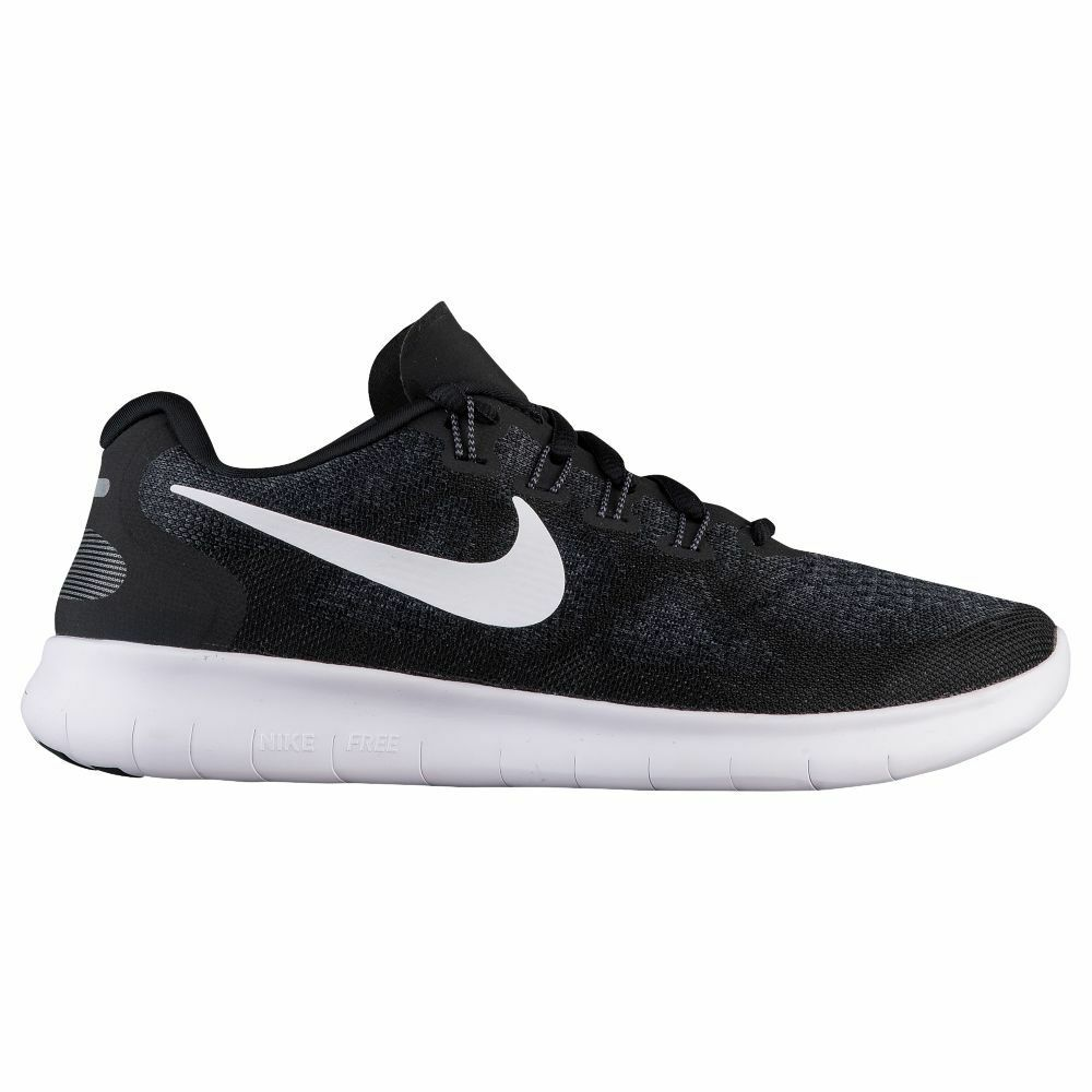 Nike Free RN 2017 Womens 880840-001 Black White Knit Running shoes Size 6