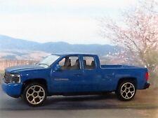 CHEVROLET SILVERADO 1:68 (Blue) Majorette Diecast model car
