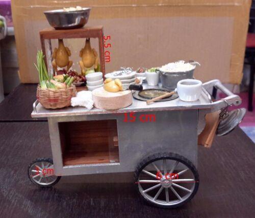 1:12 Dollhouse Miniature Show Noodle Chicken Mini Decor Kitchen Thai Furniture