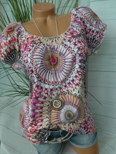 34 bis 48 mit Muster NEU Corley Shirt Damen Kurzarm Gr 836