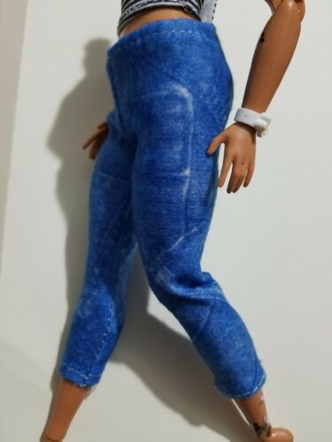 NEW DENIM STYLE CROP PANTS ~ BARBIE CURVY FIT  CLOTHES FASHIONISTAS FASHION