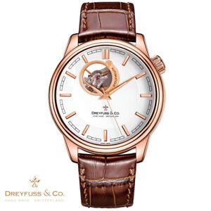 Dreyfuss-amp-Co-DGS00163-02-Automatik-1925-Leder-braun-Armbanduhr-Herren-NEU