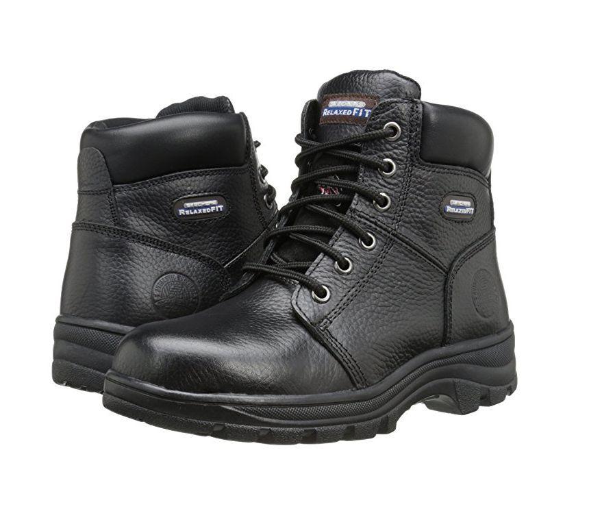 Skechers Peril Women's Black Relaxed Fit EH Steel Toe Boot Memory Foam 76561/BLK