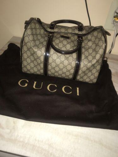 Gucci GG Monogram Beige Brown Leather Joy Boston … - image 1