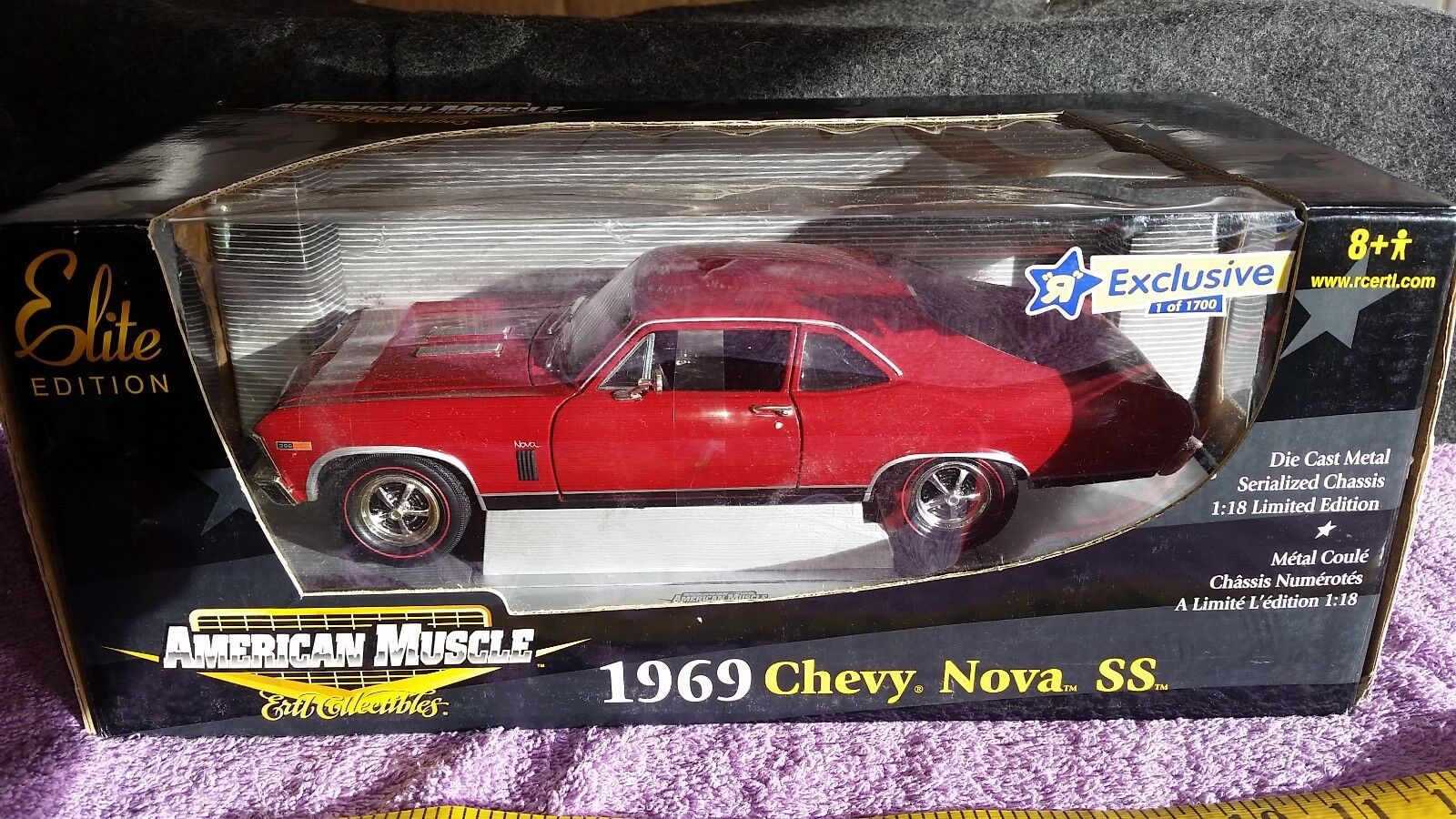 Ertl american muscle elite edition 1969 chevy nova ss  1 18th