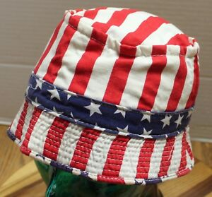 fd3c5fa334a VINTAGE YOUTH STARS   STRIPES PATRIOTIC BUCKET HAT BEST AGE 4-6 VERY ...