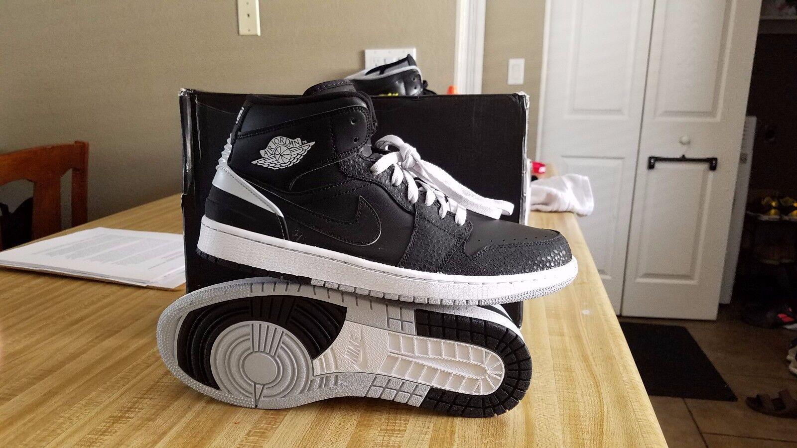 New Nike Air Jordan 1 Retro '86 Basketball shoes Black White Platinum  644490-010